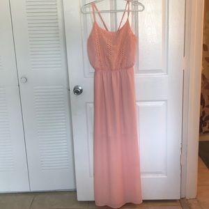 SOLD No Boundaries peach maxi dress